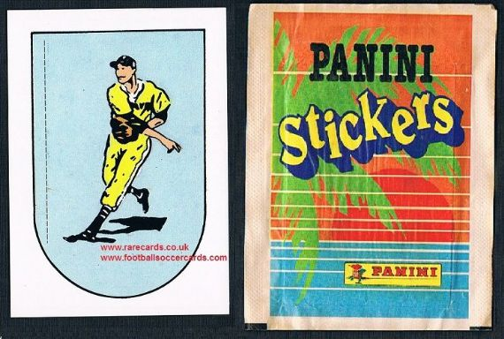 1987 unused Panini baseball sticker AND unopened packet of stickers same series
